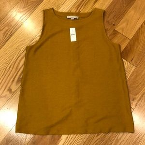LOFT sleeves button back top